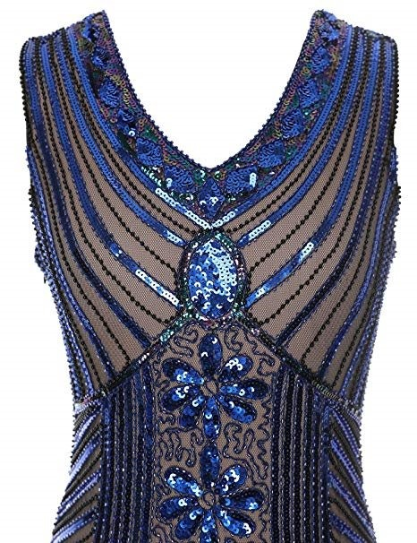 f59bf93129 Vestido De Gala Para Fiesta Baile Azul Beige Marca Meilun ...