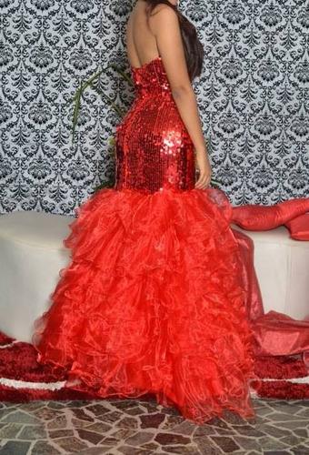 vestido de gala sirena