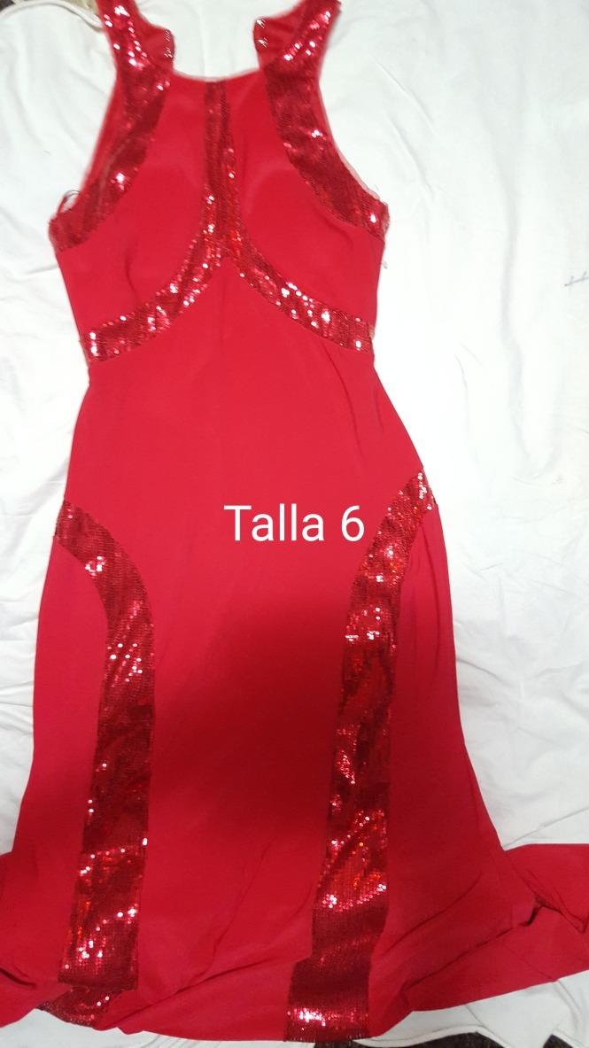 f924528c4 vestido de gala talla 6. color rojo. americano .nuevo. Cargando zoom.