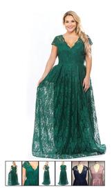 Vestido De Gala Verde Esmeralda 3xl