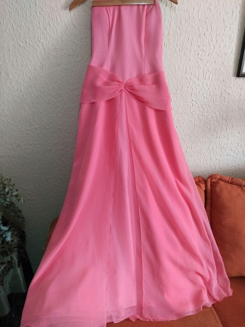 Vestido De Graduación O Fiesta Talla 11-12 Color Salmón ...
