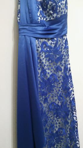 vestido de guipur para fiesta color azul