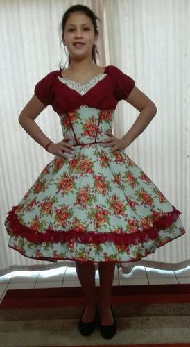 vestido de huasa china talla s unico disponible
