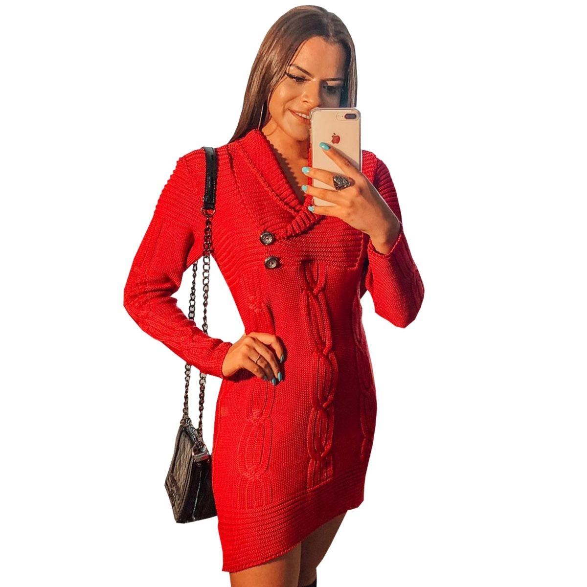 e2b8633ae376 vestido de inverno moda evangélica feminina 2019 manga longa. Carregando  zoom.