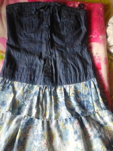 vestido de jeans corto