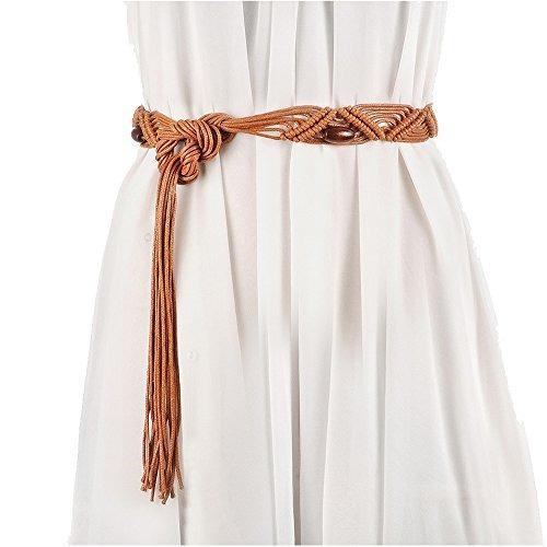 vestido de la falda de la correa de cera de la correa tejida