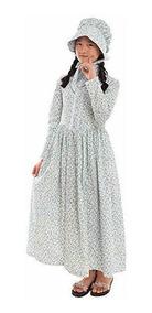 Vestido De La Pradera Colonial Para Niñas 100 Algodón Opc
