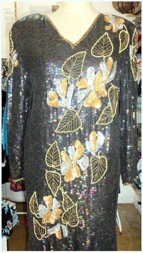 vestido de lentejuelas de fiesta importado de la india