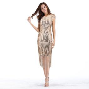 65745df8b Vestido Corto De Fiesta Con Flecos - Vestidos de Mujer en Mercado Libre  Chile
