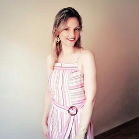 91e393eab Vestido Midi Linho - Vestidos Femininas no Mercado Livre Brasil