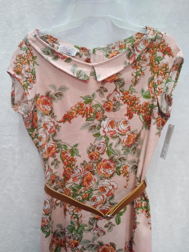 vestido de lino flores casual vestir moda juvenil mujer. Cargando zoom. e80e7d333301