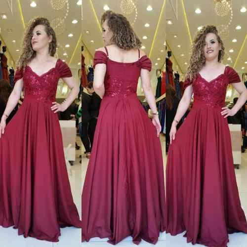 Vestido De Luxo Marsala Tiffany Longo Madrinha Casamento