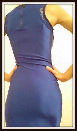 vestido de lycra al cupero super sexi en azul y rojo