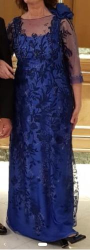 vestido de madrina talle l, de diseñador !