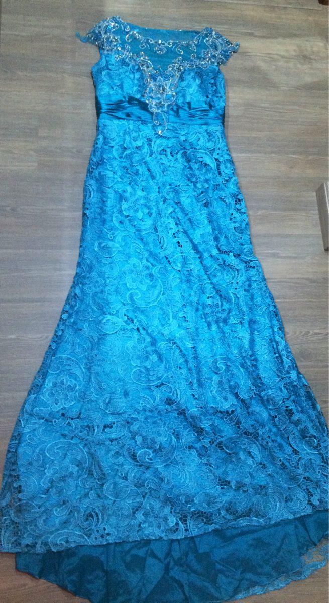 Vestido azul turquesa para madrinha