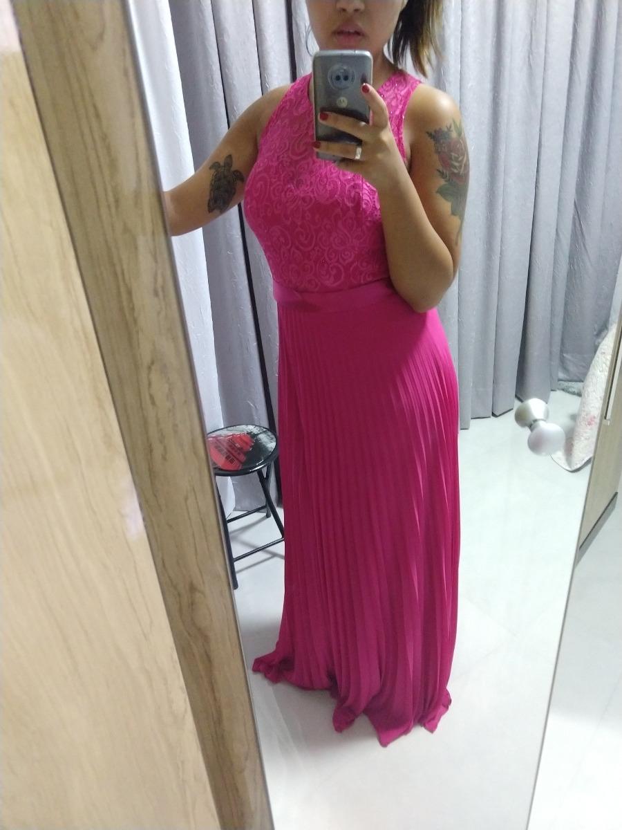 ca49c9b9f Vestido De Madrinha Rosa Pink Longo - R$ 150,00 em Mercado Livre
