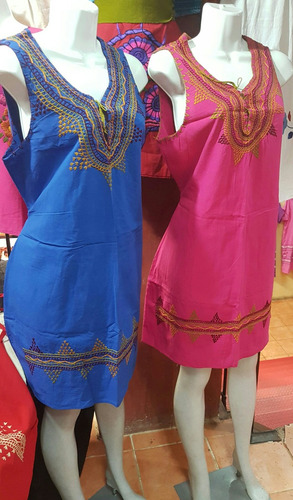 vestido de manta bordados a mano en san cristobal-chiapas