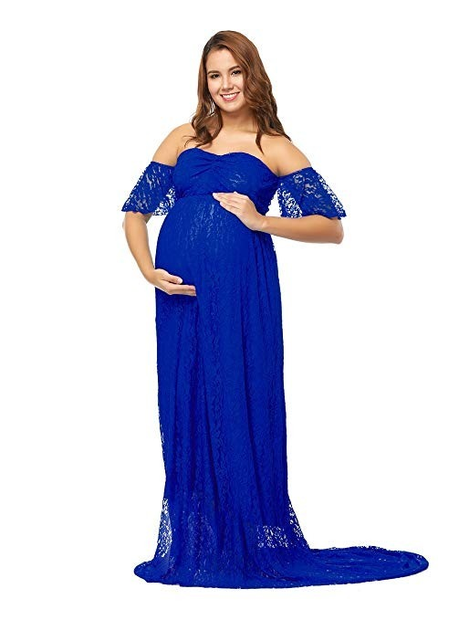 Vestidos azul rey para embarazadas