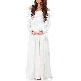 online nueva temporada venta online Vestido De Maternidad Embarazada Blanco Baby Shower Mother B
