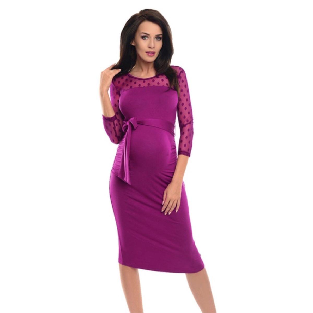 Único Vestido De La Dama Gris De Maternidad Ornamento - Vestido de ...