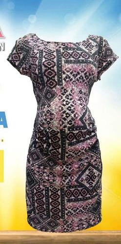 vestido de maternidad estampado tribal