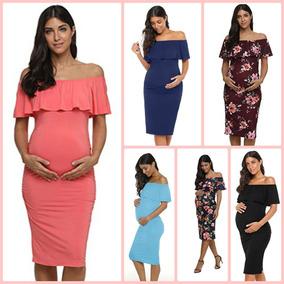 22a1f478b Vestidos Maternos Largos Elegantes - Ropa y Accesorios en Mercado ...