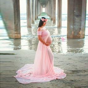 sitio de buena reputación 25146 4ab55 Vestido De Maternidad Para Sesiones Fotográficas Embarazo.