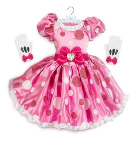 Vestido De Minnie Mouse Para Niña Marca Disney Original Magc