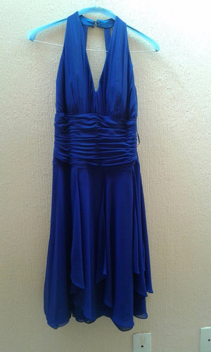 vestido de moda color azul