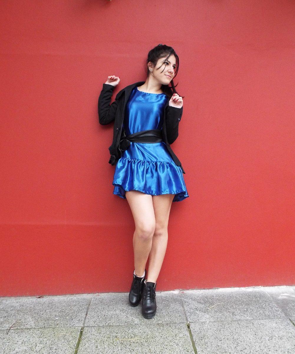 Vestidos mujer azul electrico