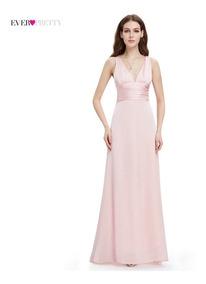 d582f932a63d Vestido De Mujer Noche Satinado Gala Largo Elegante