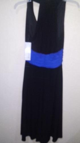 vestido de mujer sin manga color negro talla 8p evan picone