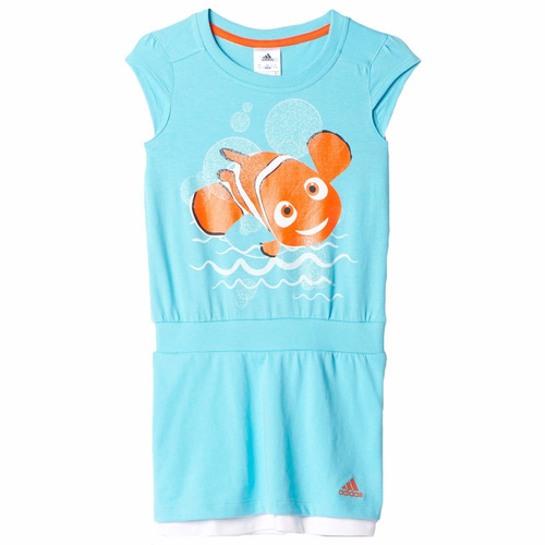 vestido de nemo disney para bebe niña adidas ak2537