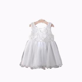 Vestido De Nena Fiesta De Tul Y Guipiure  - Importado