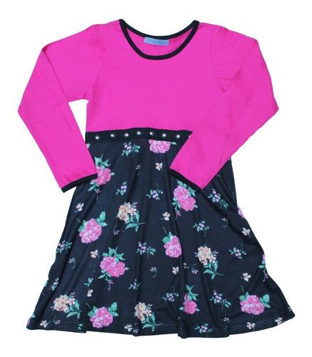 vestido de nena fucsia invierno 2019