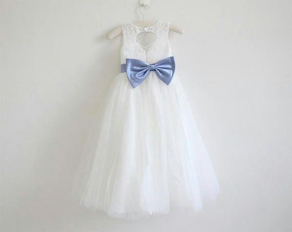 598a244b0 Vestido De Nena Para Fiesta Largo Con Encaje -   3.500