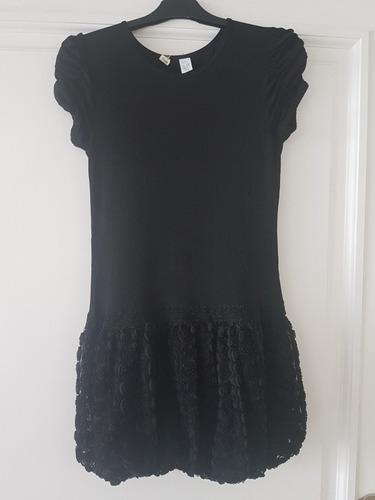 vestido de nena zara de fiesta negro talle 11-12