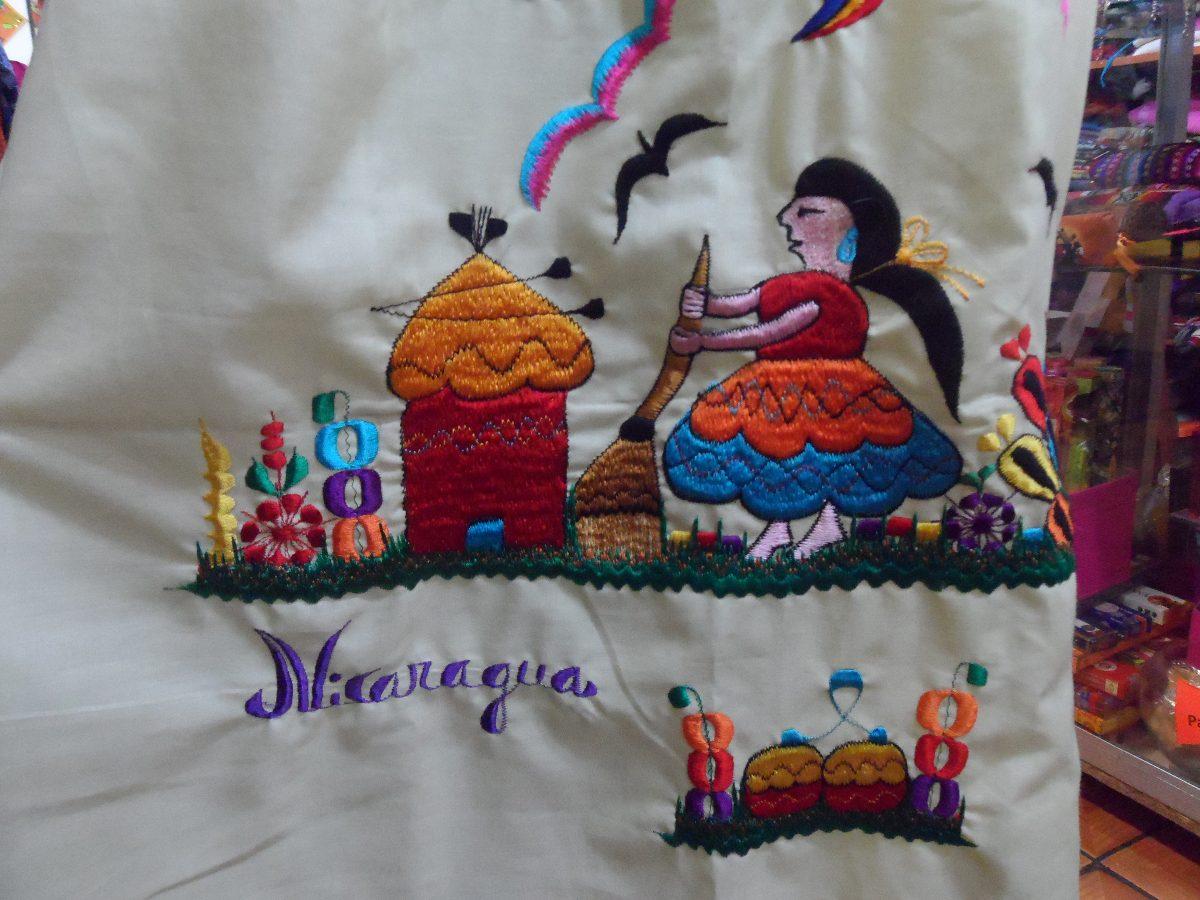 Vestido De Nicaragua Bordado A Maquina Talla Standar