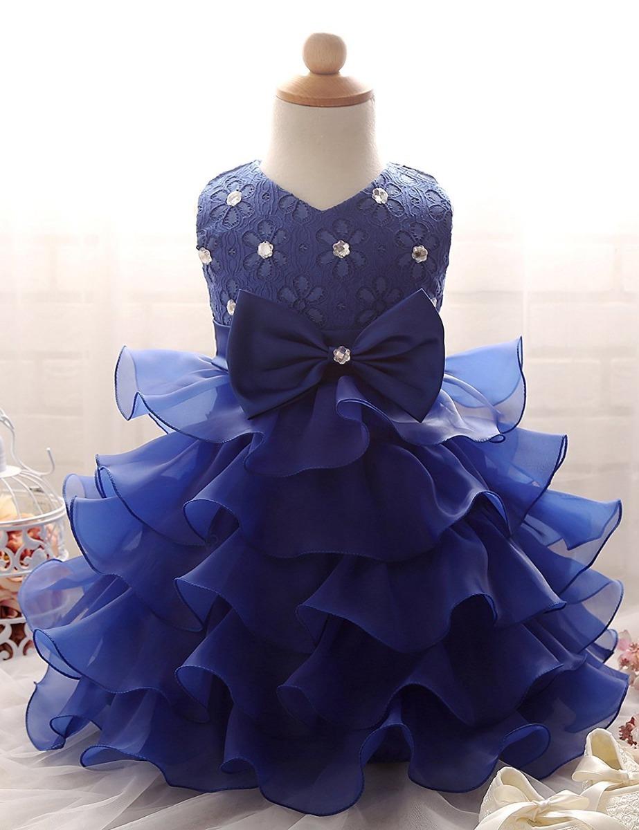 5106fc46a Vestido De Niña Azul Bodas Fiestas Comunion Nnjxd - $ 1,175.00 en ...