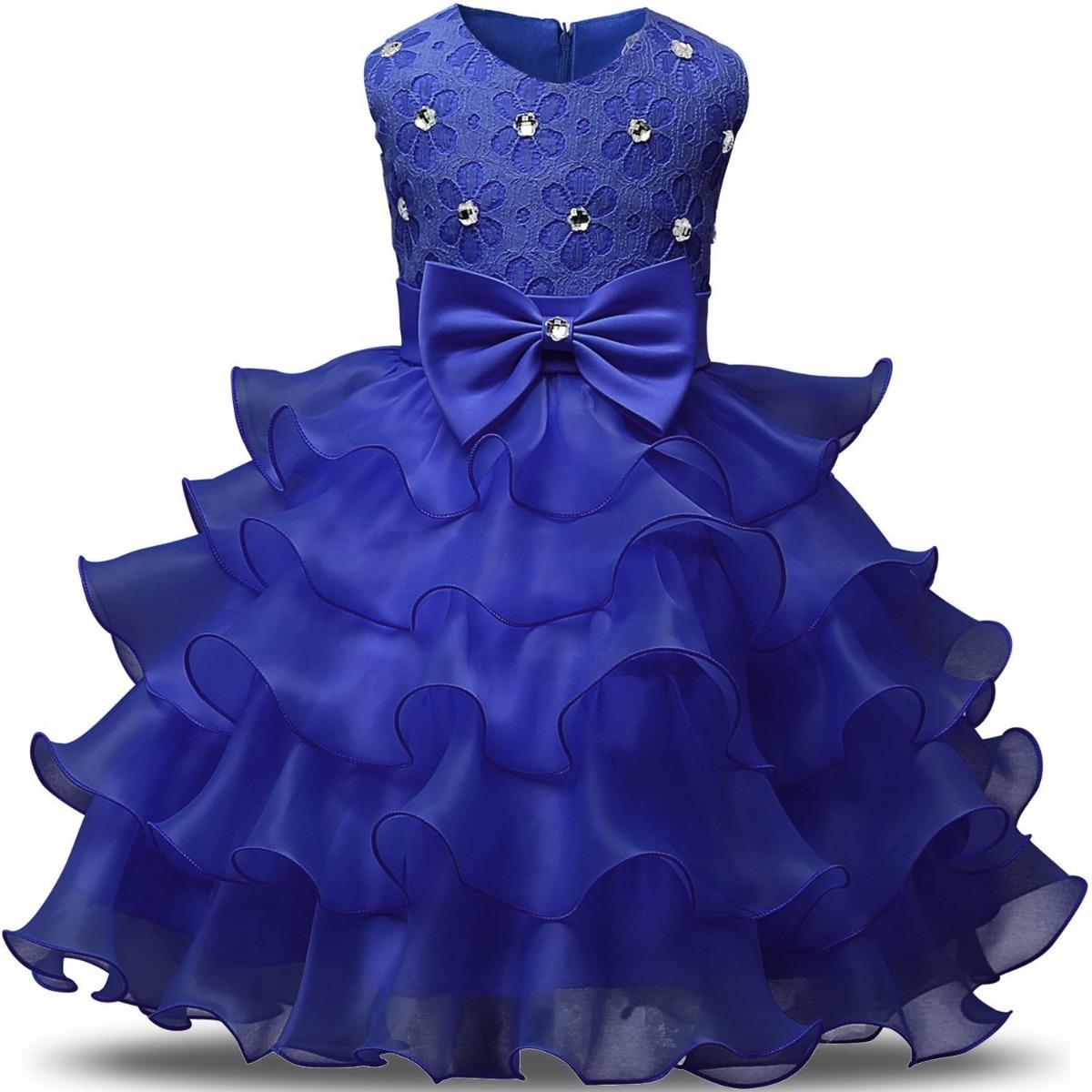 06d269a4b Vestido De Niña Azul Bodas Fiestas Comunion Nnjxd - $ 1,179.00 en ...
