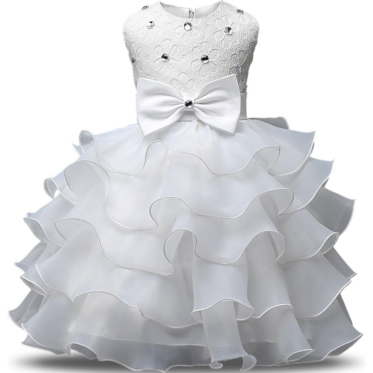 cde45ffba Vestido De Niña Blanco Bodas Fiestas Comunion Nnjxd - $ 1,175.00 en ...