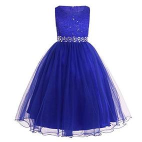 ae8466fa5 Vestidos De Fiesta Para Ninas Azul Rey - Ropa