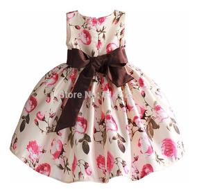 Vestido De Niña De 2 A 6 Años Floreadopor Encargue