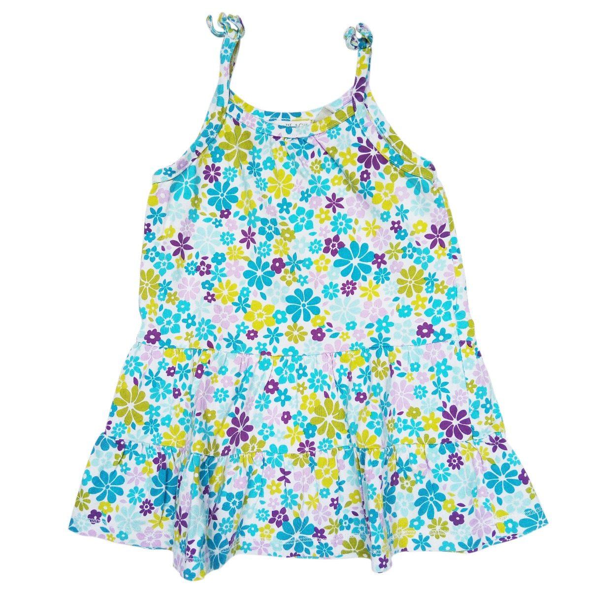 ed40c44e4 vestido de niña estampado en tela de algodón, talla 18 meses. Cargando zoom.