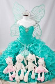 Vestido De Niña Fiesta Con Accesorios Para Presentación
