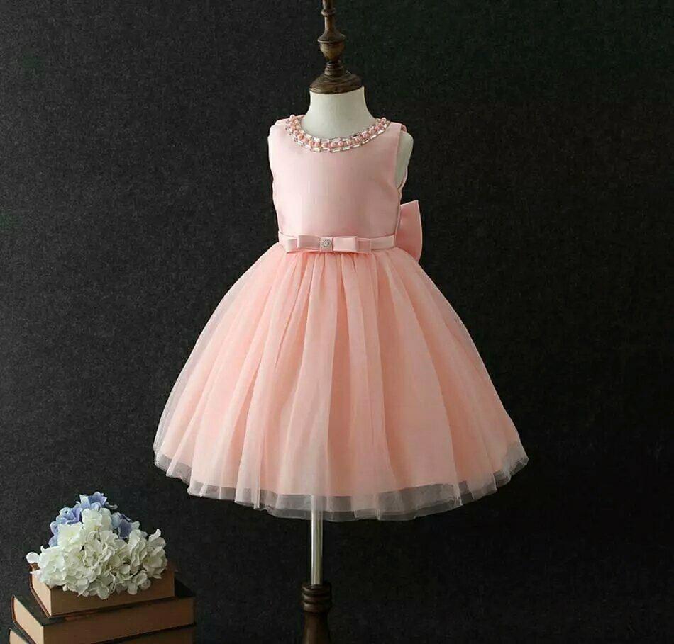 Vestidos Color Melon Pastel Para Niñas Coloringssiteco