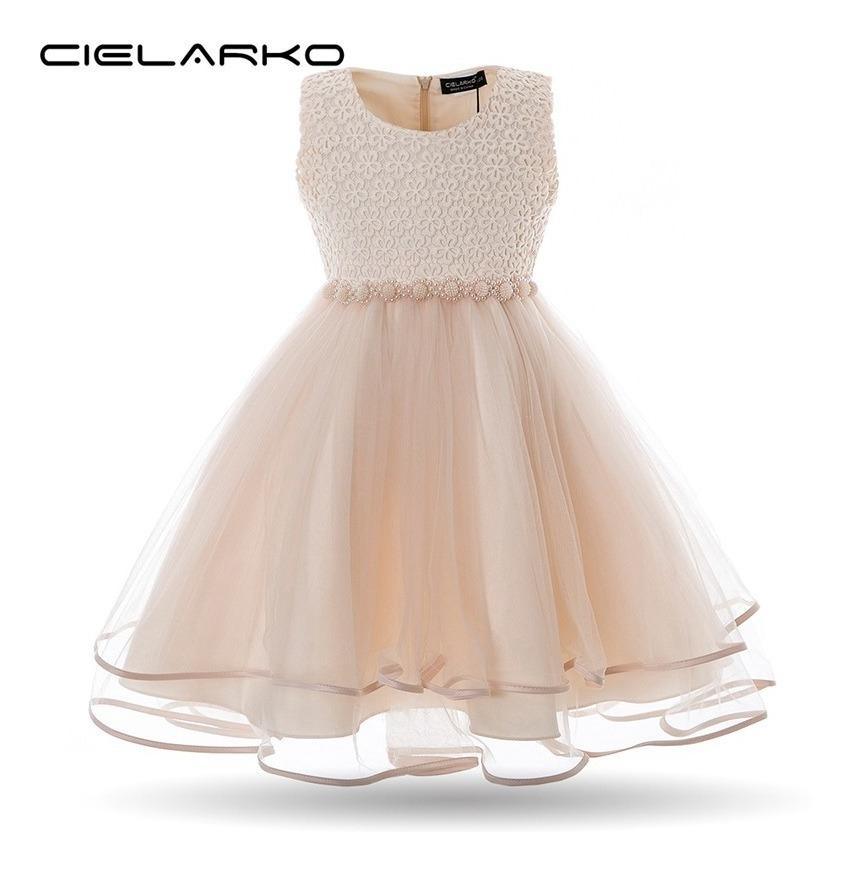 967848afd Vestido De Niña Fiesta Perlas J000013 - $ 725.00 en Mercado Libre