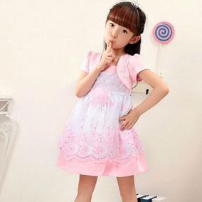 520986b42 Vestido De Niña Para 2-3-4 Años Con Diseño De Flores(por