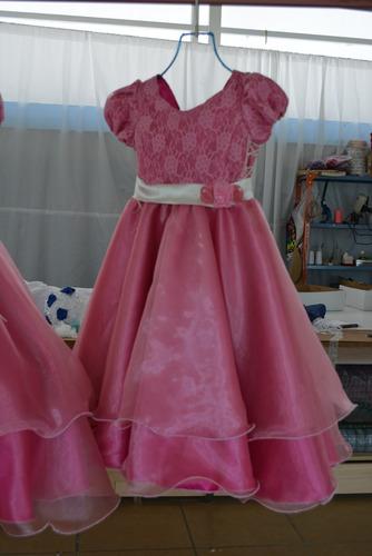 vestido de niña rosa  primera comunión, paje talla 5