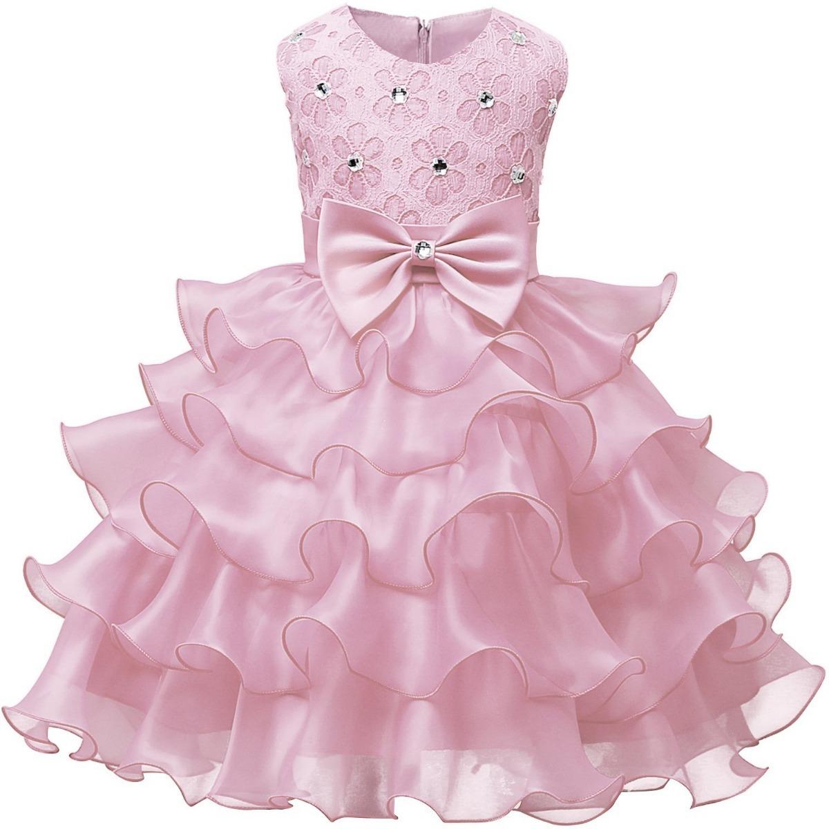 Vestido De Niña Rosita Bodas Fiestas Comunion Nnjxd - $ 1,179.00 en ...